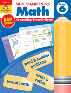 Skill Sharpeners: Math, Grade 6 - Activity Book