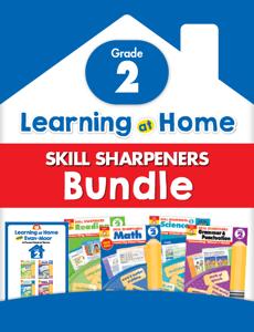 Learning At Home Skill Sharpeners Bundle, Grade 2