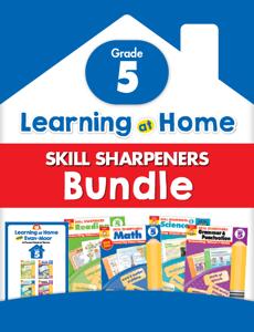 Learning At Home Skill Sharpeners Bundle, Grade 5