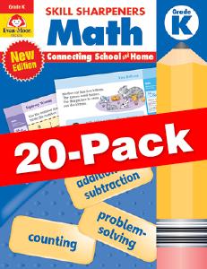 Skill Sharpeners: Math, Grade K — Class pack