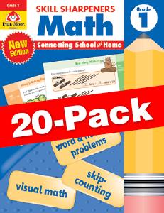 Skill Sharpeners: Math, Grade 1 — Class pack