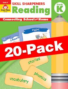 Skill Sharpeners: Reading, Grade K — Class pack