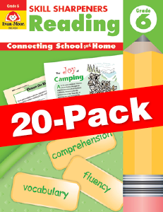 Skill Sharpeners: Reading, Grade 6 — Class pack