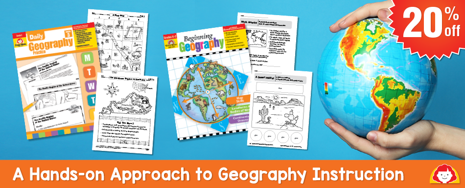 20% off Geography titles