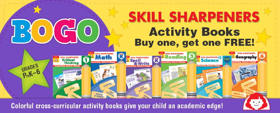 Buy one Skill Sharpeners activity book and get one free.