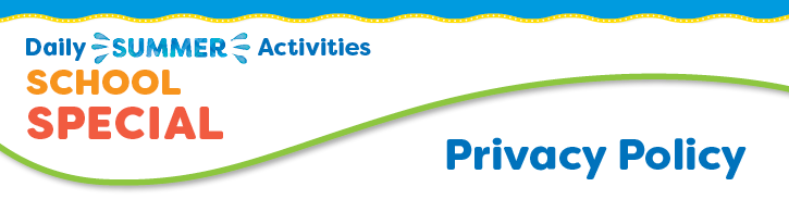Daily Summer Activities School Fundraising Privacy