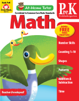 Picture of At-Home Tutor: Math, Grade PreK