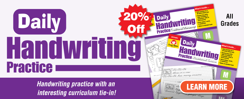 20% Off Daily Handwriting Practice