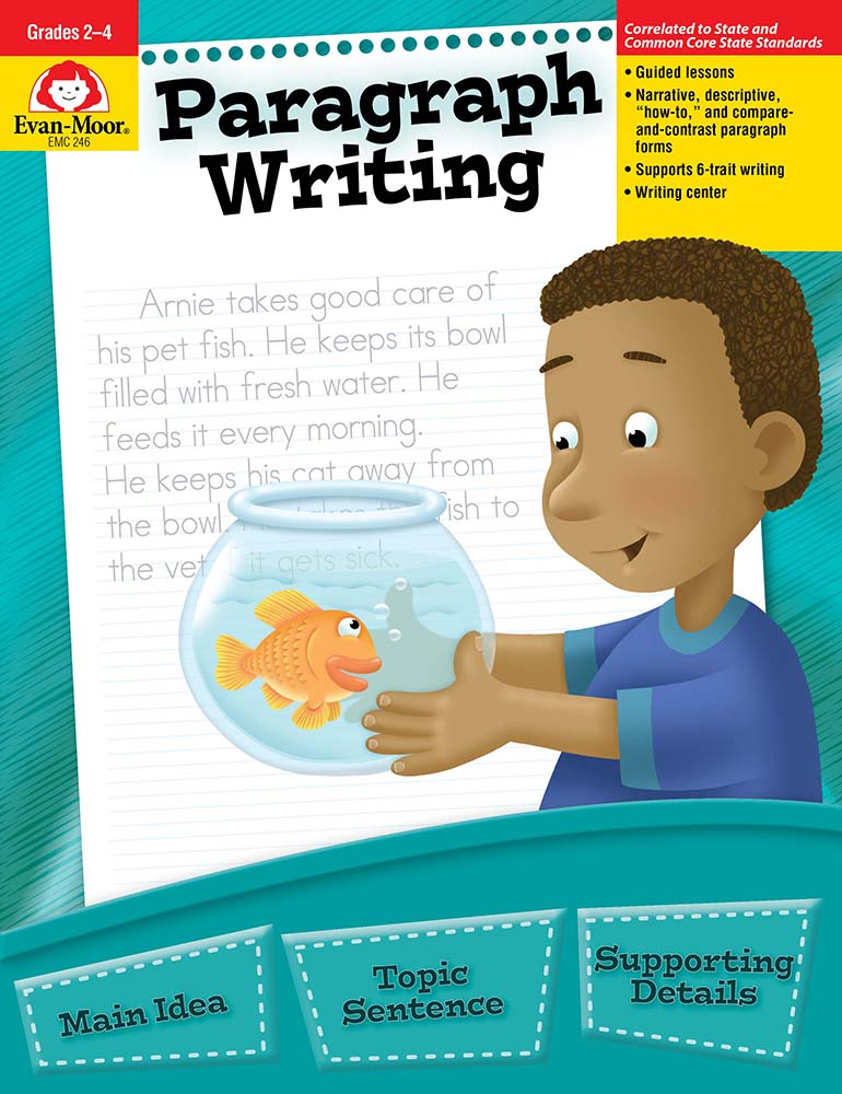 Evan-Moor Paragraph Writing, Grades 2-4 - Teacher Reproducibles, Print
