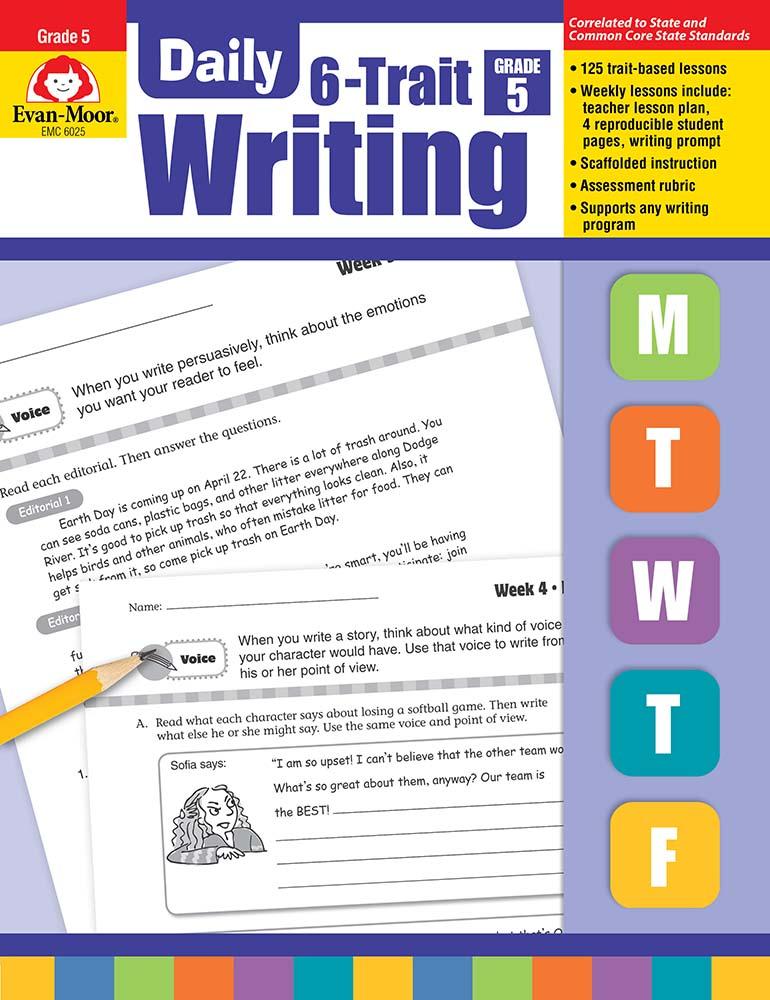 Evan-Moor Daily 6-Trait Writing, Grade 5 - Teacher's Edition, Print