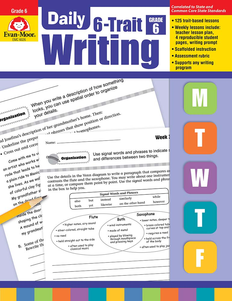 Evan-Moor Daily 6-Trait Writing, Grade 6 - Teacher's Edition, Print