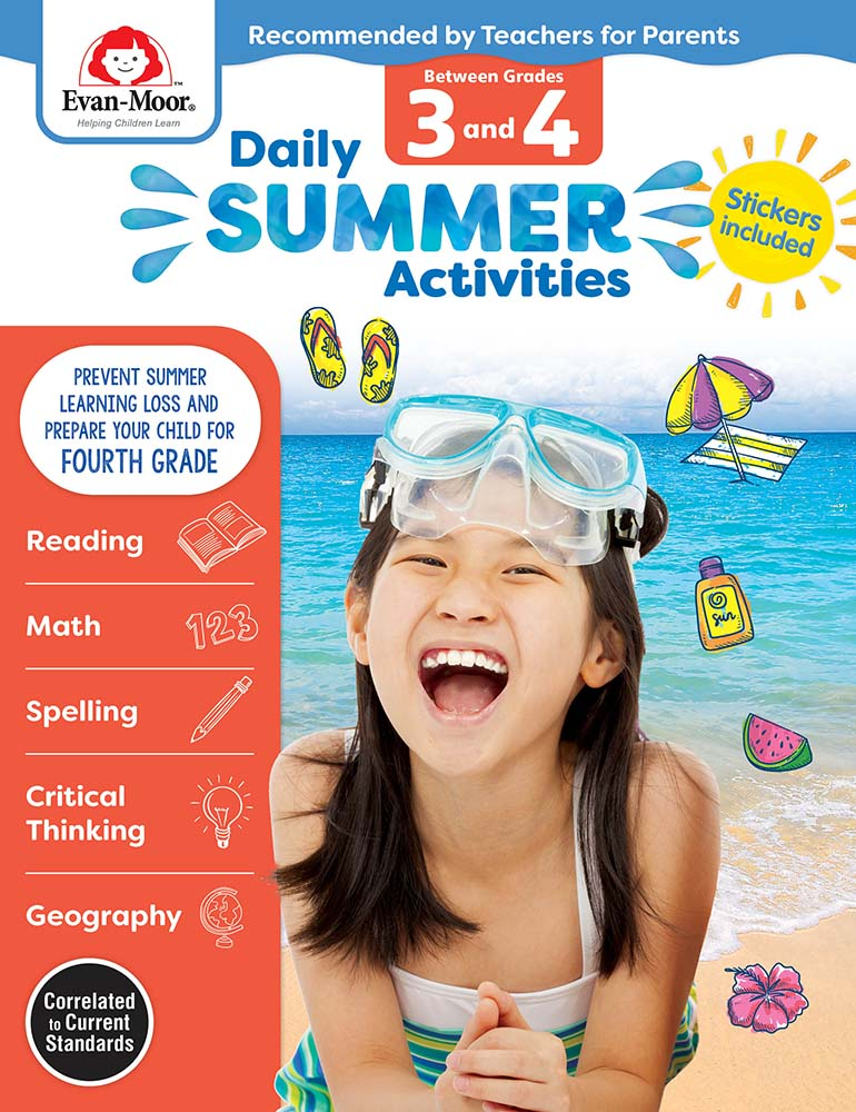 Picture of Daily Summer Activities: Between Grades 3rd Grade and 4th Grade, Grades 3-4 - Activity Book
