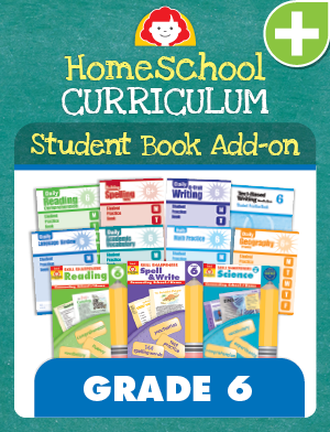Picture of Homeschool Student Book Add-on Set, Grade 6