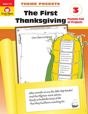 Picture of Theme Pockets: First Thanksgiving, Grades 1-3 - Teacher Reproducibles, E-book