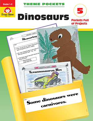 Picture of Theme Pockets: Dinosaurs, Grades 1-3- Teacher Reproducibles, E-book