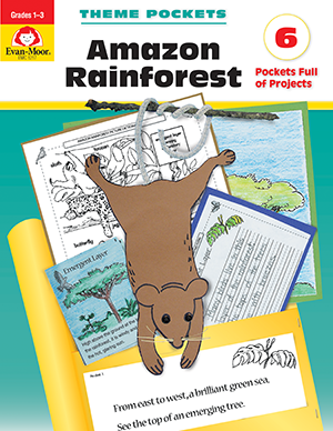 Picture of Theme Pockets: Amazon Rainforest, Grades 1-3 - Teacher Reproducibles, E-book