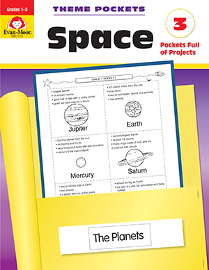 Picture of Theme Pockets: Space, Grades 1-3 - Teacher Reproducibles, E-book