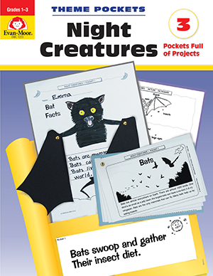 Picture of Theme Pockets: Night Creatures, Grades 1-3 - Teacher Reproducibles, E-book