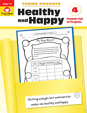 Picture of Theme Pockets: Healthy & Happy, Grades 1-3 - Teacher Reproducibles, E-book