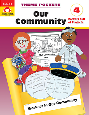 Picture of Theme Pockets: Our Community, Grades 1-3 - Teacher Reproducibles, E-book