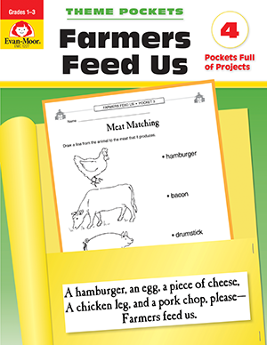 Picture of Theme Pockets: Farmers Feed Us, Grades 1-3 - Teacher Reproducibles, E-book