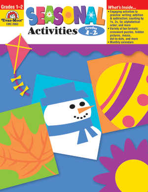 Picture of Seasonal Activities, Grades 1-2 - Teacher Reproducibles, E-book