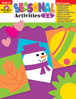 Picture of Seasonal Activities, Grades 3-5 - Teacher Reproducibles, Print