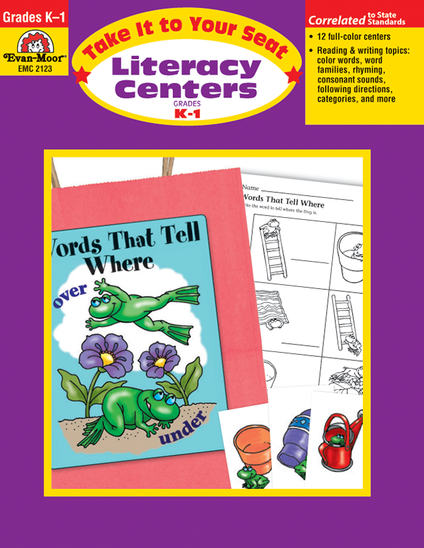 Picture of Take It To Your Seat: Literacy Centers, Grades K-1 - Teacher Resource, E-book