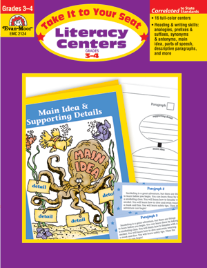 Picture of Take It To Your Seat: Literacy Centers, Grades 3-4 - Teacher Resource, Print