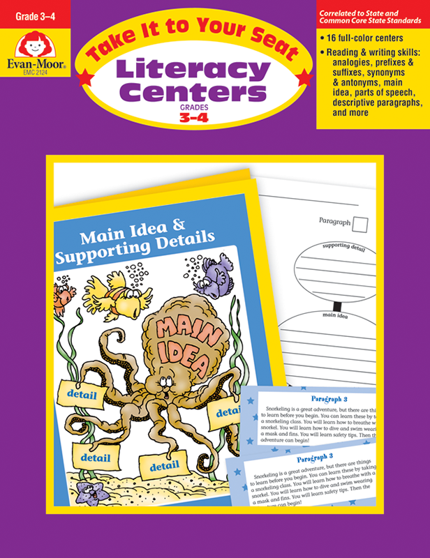 Picture of Take It To Your Seat: Literacy Centers, Grades 3-4- Teacher Resource, E-book