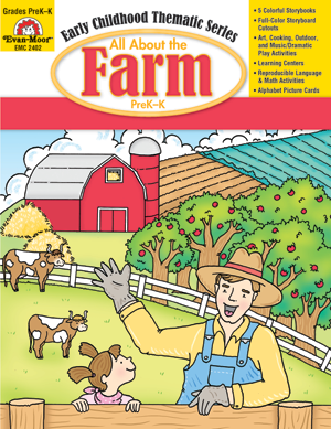 Picture of All About the Farm, Grades PreK -K -Activity Book, E-Book