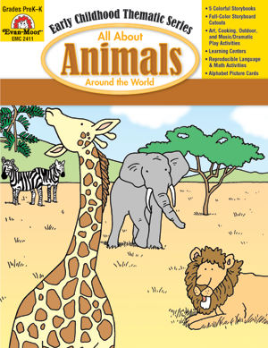 Picture of All About Animals Around the World, Grades PreK -K - Teacher Reproducibles, E-book