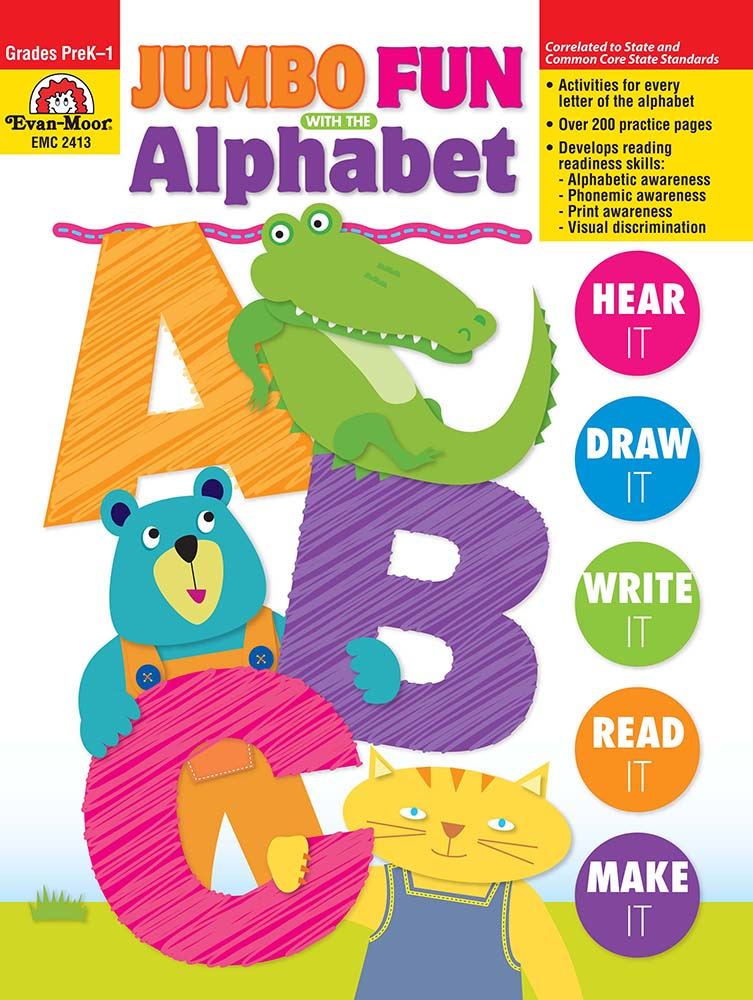 Picture of Jumbo Fun with the Alphabet, Grades PreK-1 - Teacher Reproducibles, Print