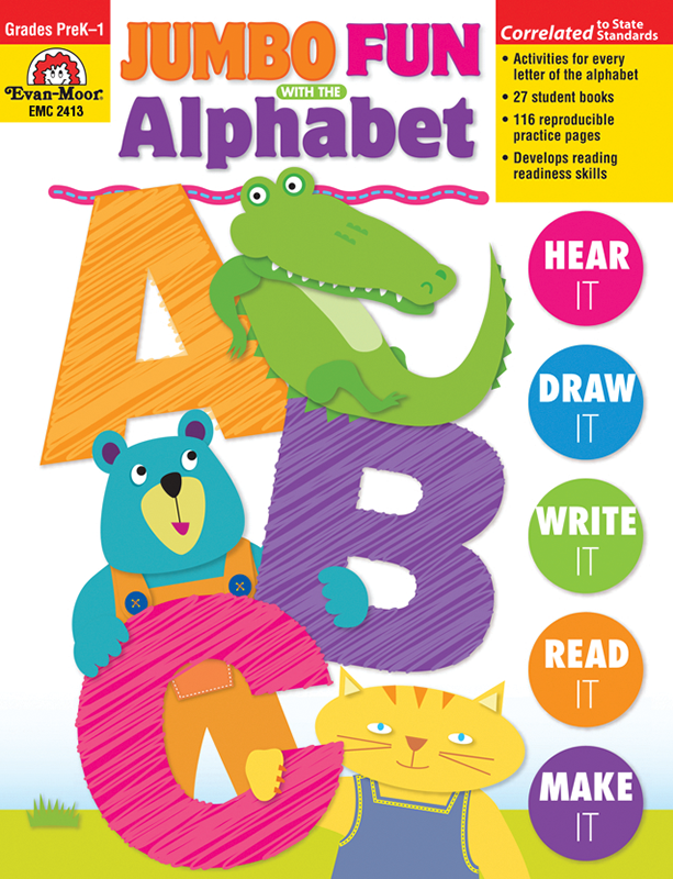 Picture of Jumbo Fun with the Alphabet, Grades PreK-1 - Teacher Reproducibles, E-book