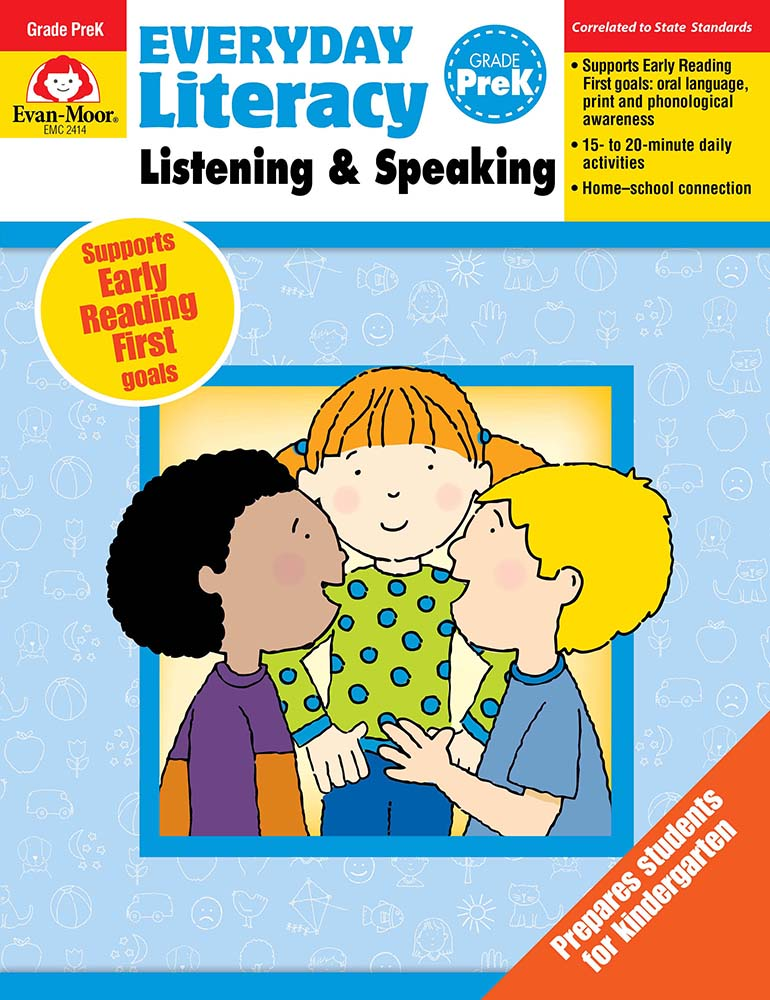 Picture of Everyday Literacy: Listening and Speaking, Grade PreK  - Teacher Reproducibles, Print