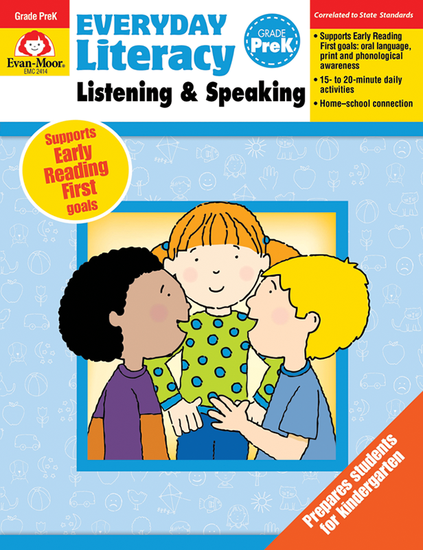 Picture of Everyday Literacy: Listening and Speaking, Grade PreK- Teacher's Edition, E-book
