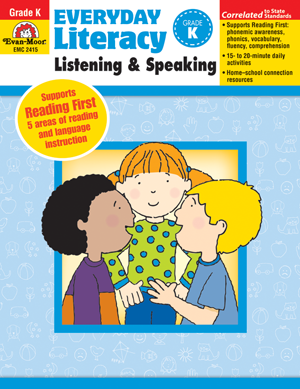 Picture of Everyday Literacy: Listening and Speaking, Grade K  - Teacher Reproducibles, Print