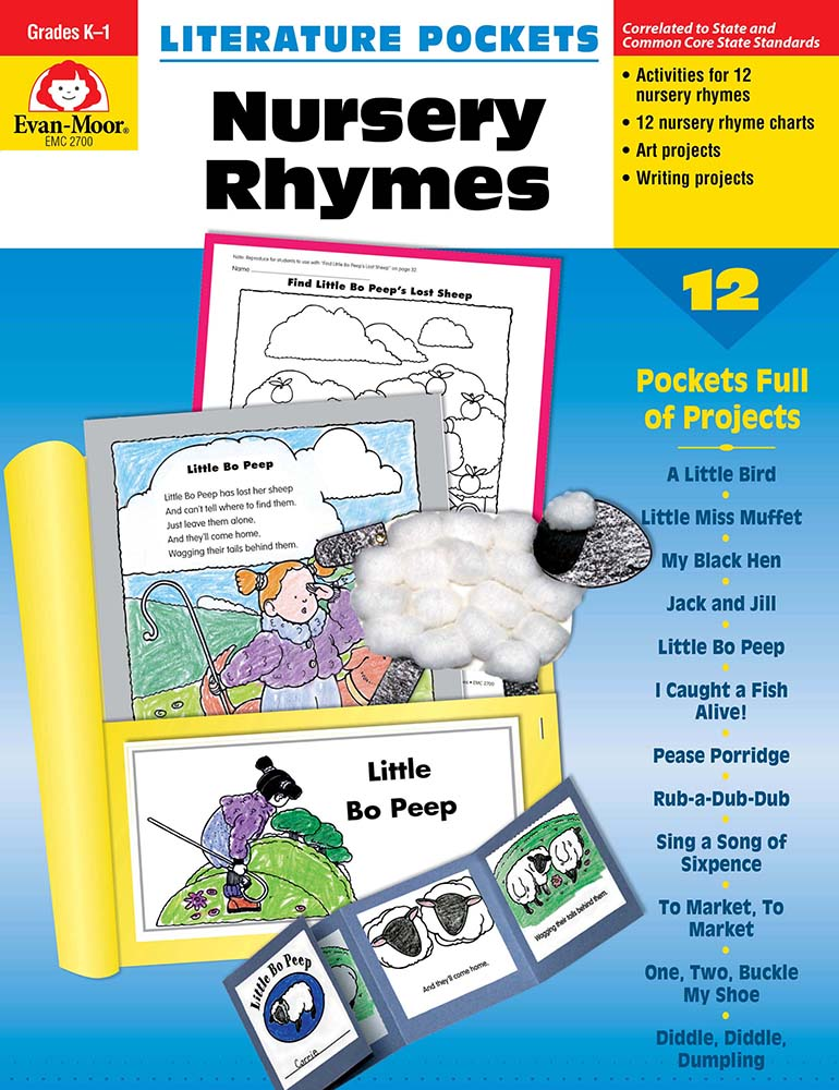 Picture of Literature Pockets: Nursery Rhymes, Grades K-1 - Teacher Reproducibles, Print