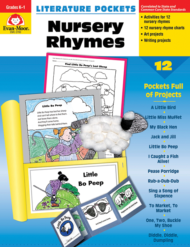 Picture of Literature Pockets: Nursery Rhymes, Grades K-1 - Teacher Reproducibles, E-book