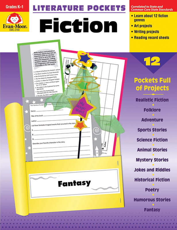 Picture of Literature Pockets: Fiction, Grades 4-6 - Teacher Reproducibles, E-book