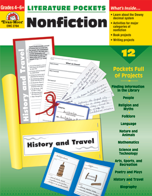 Picture of Literature Pockets: Nonfiction, Grades 4-6 - Teacher Reproducibles, Print