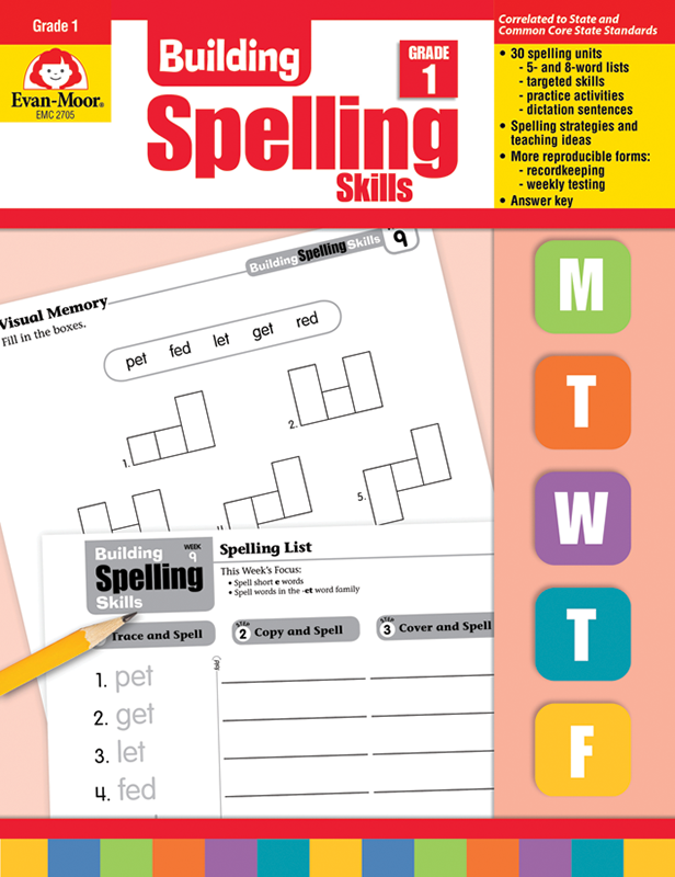 Picture of Building Spelling Skills, Grade 1 - Teacher's Edition, E-book