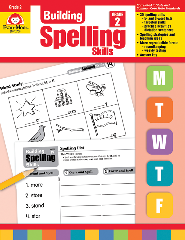 Picture of Building Spelling Skills, Grade 2 - Teacher's Edition, E-book