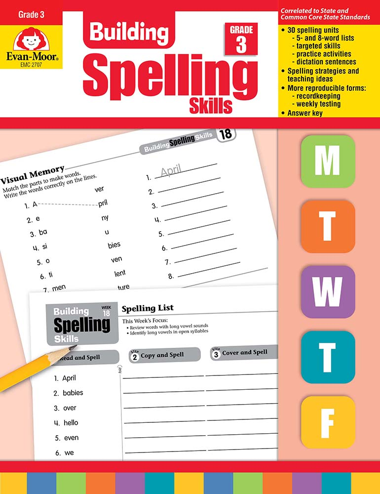 Picture of Building Spelling Skills, Grade 3 - Teacher's Edition, Print