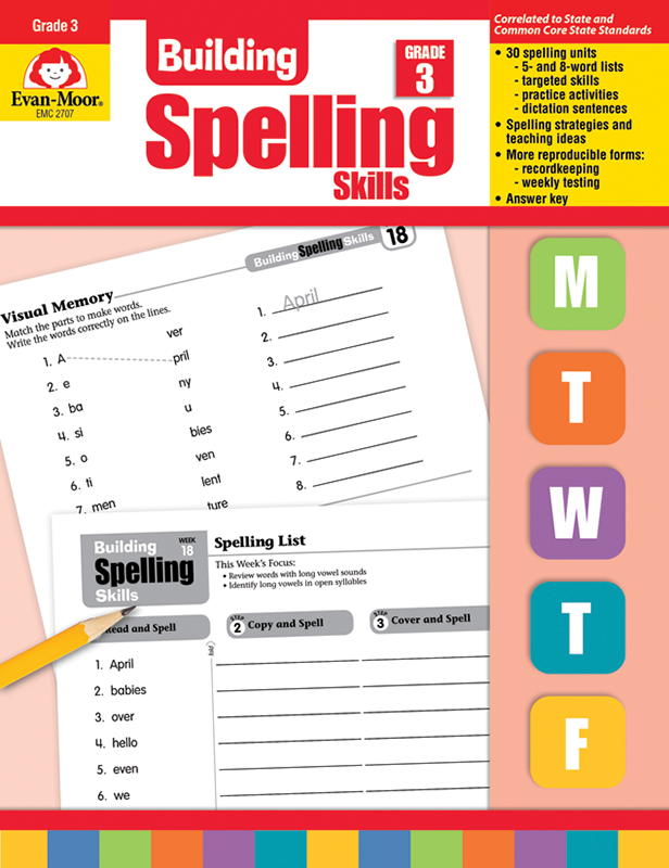 Picture of Building Spelling Skills, Grade 3 - Teacher's Edition, E-book