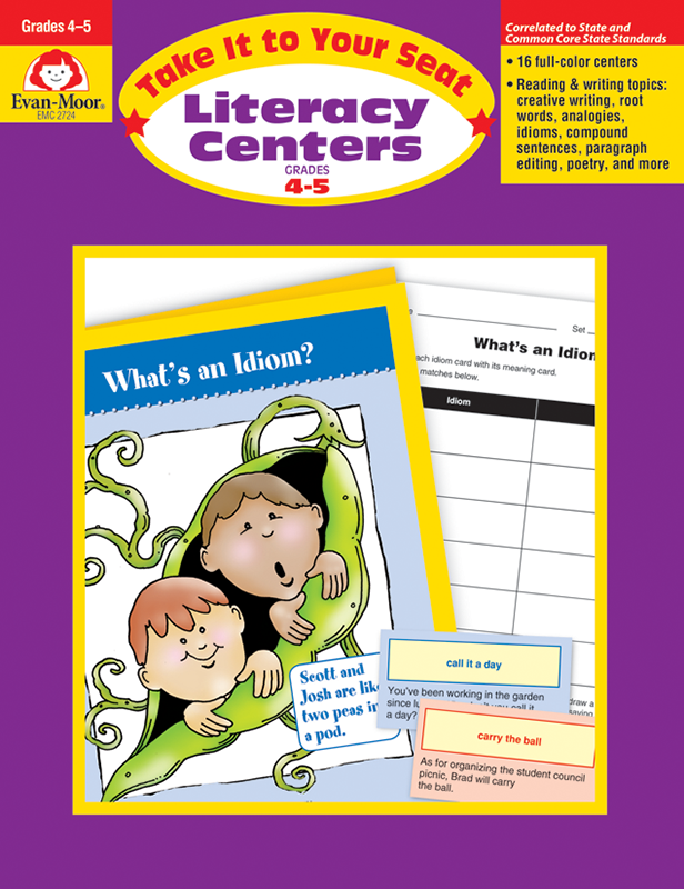 Picture of Take It To Your Seat: Literacy Centers, Grades 4-5 - Teacher Reproducibles, E-book