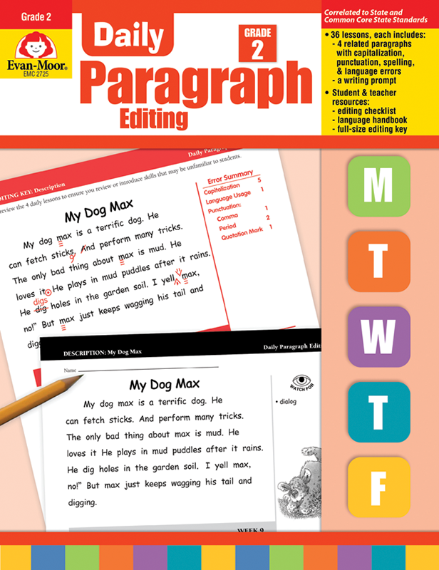 Picture of Daily Paragraph Editing, Grade 2 - Teacher's Edition, E-book