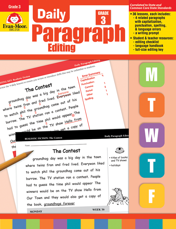 Picture of Daily Paragraph Editing, Grade 3 - Teacher's Edition, E-book