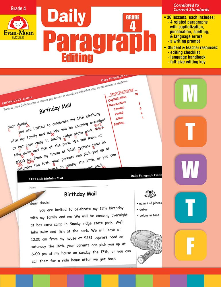 Picture of Daily Paragraph Editing, Grade 4 - Teacher's Edition, Print