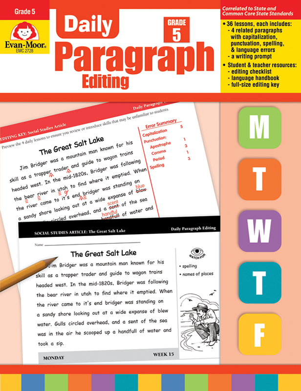Picture of Daily Paragraph Editing, Grade 5 - Teacher's Edition, E-book